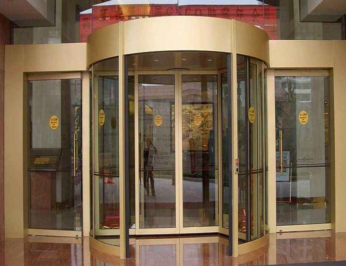 弧形玻璃旋转门