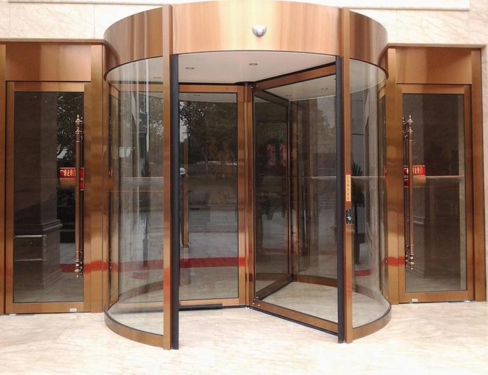 山东酒店玻璃旋转门