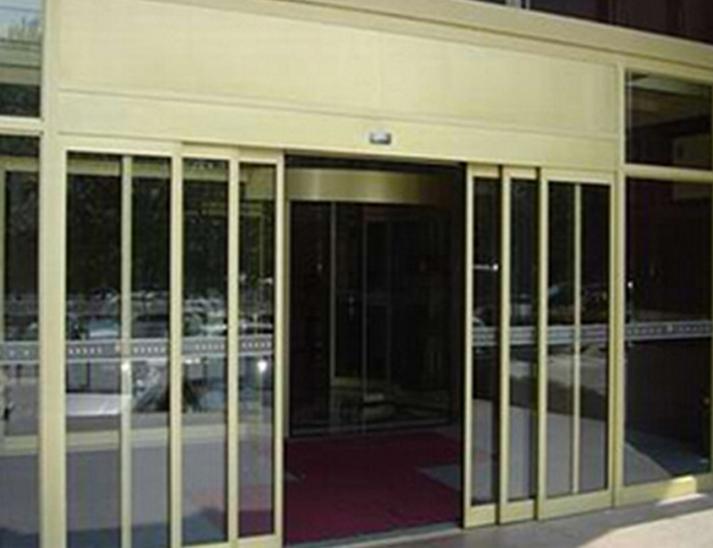 深圳自动玻璃重叠感应门