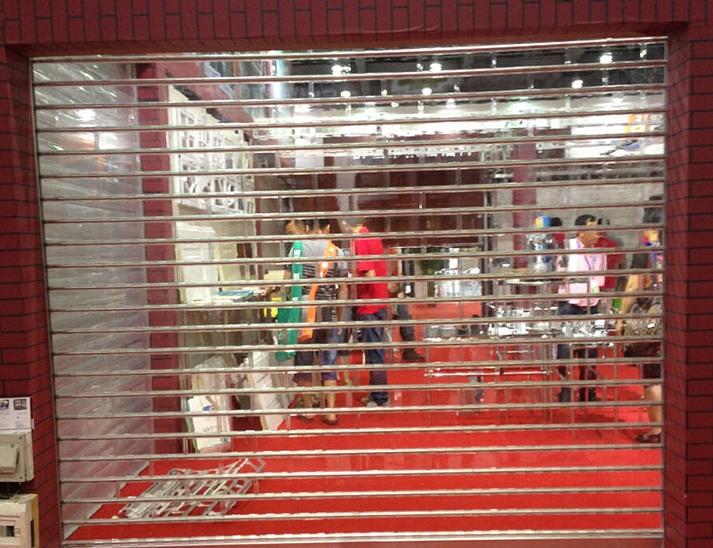 上海透明水晶卷帘门